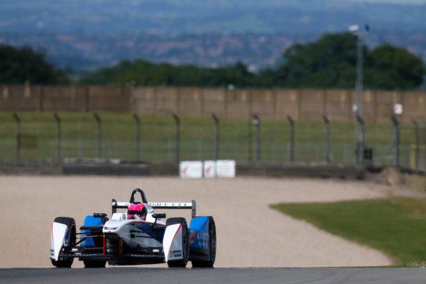 FIA Formula E Test Day, Donington Park, UK.  9th - 10th July 2014.  Franck Montagny, Andretti Autosport. Photo: Sam Bloxham/FIA Formula E ref: Digital Image _SBL1237