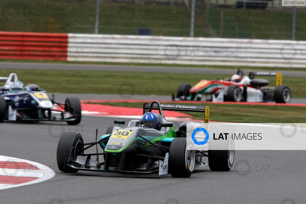 2013 FIA F3 European Championship, Silverstone, Northamptonshire. 12th - 14th April 2013. Josh Hill (GBR) Fortec Motorsports Dallara Mercedes . World Copyright: Ebrey / LAT Photographic.
