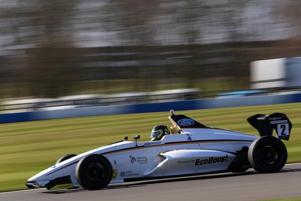 2013 MSA Formula Ford Championship of Great Britain. Donington Park, Leicestershire. 20th - 21st April 2013. Sam Brabham (GBR) JTR Formula Ford 200. World Copyright: Ebrey / LAT Photographic.