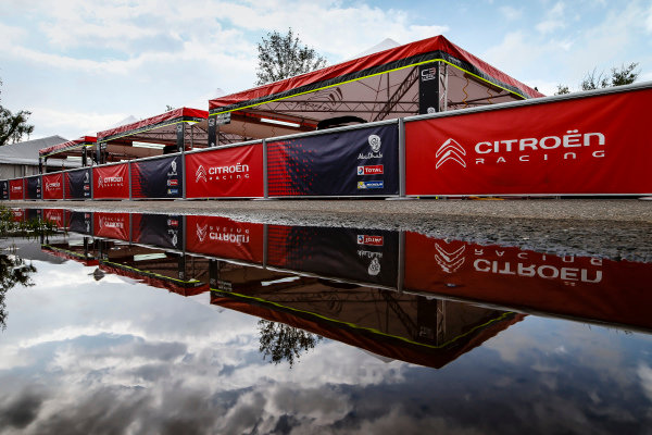 The Citroen service area within the Villa Carlos Paz WRC service park