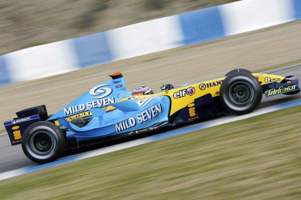 2006 Formula One TestingJerez, Spain. Day 413th January 2006Fernando Alonso, Renault R26 Action. World Copyright: Glenn Dunbar  / LAT PhotographicDigital Image Only