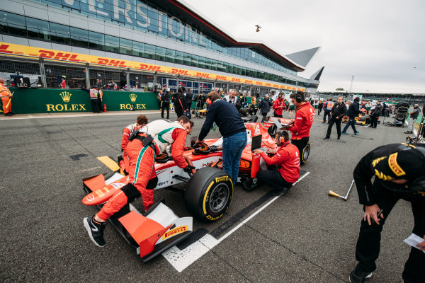 2017 FIA Formula 2 Round 6. Silverstone, Northamptonshire, UK. Saturday 15 July 2017. Charles Leclerc (MCO, PREMA Racing).  Photo: Malcolm Griffiths/FIA Formula 2. ref: Digital Image MALC6230