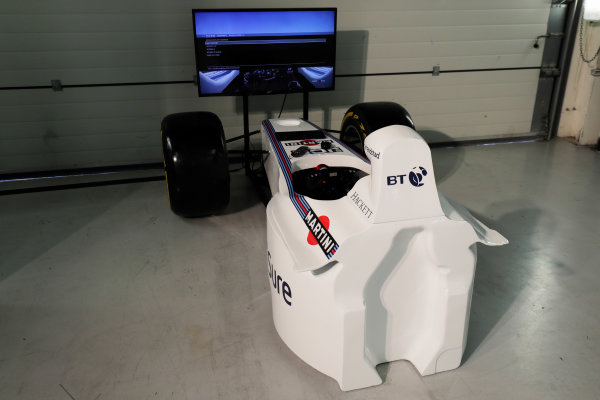 Williams 40 Event Silverstone, Northants, UK Friday 2 June 2017. A simulator. World Copyright: Zak Mauger/LAT Images ref: Digital Image _56I9371