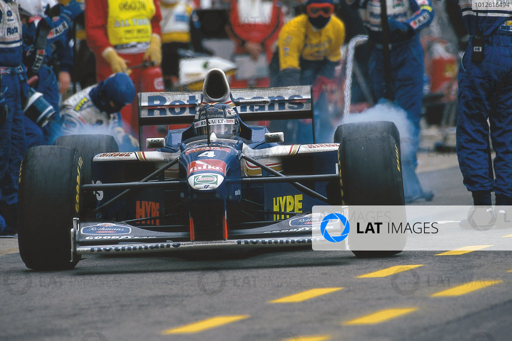 Imola, Italy.25-27 April 1997.Heinz-Harald Frentzen (Williams FW19 Renault) 1st position.Ref-Motorsport Catalogue p 28, 97 SM 02.Please Note: This image is available as a 30mb+ CMYK Tiff scan upon request.World Copyright - LAT Photographic