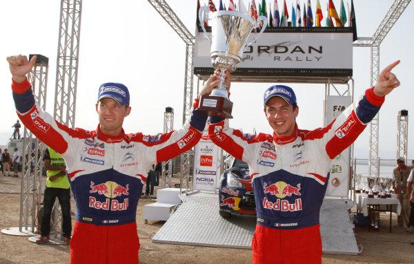 Round 04 Rally Jordan. 14th-16th April 2011.Sebastien Ogier, Citroen WRC, Podium.Worldwide Copyright: McKlein/LAT