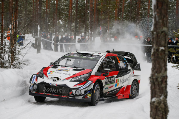 2018 FIA World Rally Championship, Round 02, Rally Sweden 2018, February 15-18, 2018. Ott Tanak, Toyota, Action Worldwide Copyright: McKlein/LAT