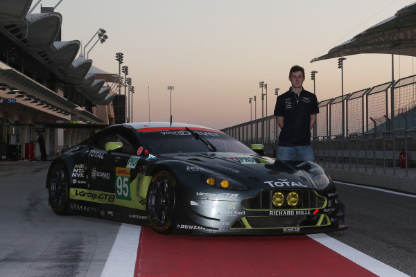 2016 FIA World Endurance Championship Rookie Test, Bahrain International Circuit, 20th November 2016, Ross Gunn (GBR) Aston Martin World Copyright. Jakob Ebrey/LAT Photographic