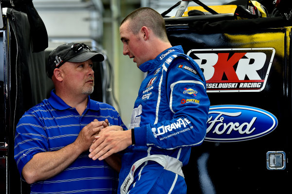 NASCAR Camping World Truck Series North Carolina Education Lottery 200 Charlotte Motor Speedway, Concord, NC USA Thursday 18 May 2017 Todd Bodine and Austin Cindric, LTi Printing Ford F-150 World Copyright: Rusty Jarrett LAT Images ref: Digital Image 17CLT1rj_1184