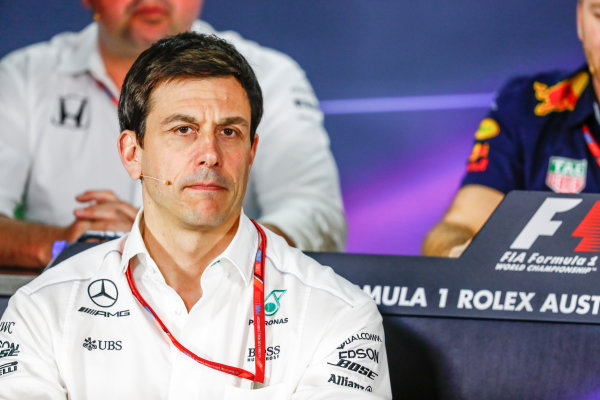 Albert Park, Melbourne, Australia. Friday 24 March 2017. Toto Wolff, Executive Director (Business), Mercedes AMG, in the Team Principals Press Conference. World Copyright: Sam Bloxham/LAT Images ref: Digital Image _W6I2441