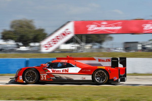 2017 WeatherTech SportsCar Championship - IMSA February Test Sebring International Raceway, Sebring, FL USA Friday 24 February 2017 31, Cadillac DPi, P, Dane Cameron, Eric Curran, Michael Conway World Copyright: Richard Dole/LAT Images ref: Digital Image RD_2_17_176
