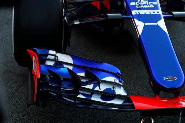 Toro Rosso STR12 Formula 1 Launch. Barcelona, Spain  Sunday 26 February 2017. STR12  World Copyright: Dunbar/LAT Images Ref: _X4I0028