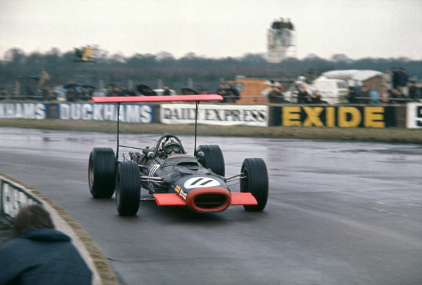 1969 International Trophy.  Silverstone, England. 30th March 1969.  Pedro Rodriguez, BRM P133.  Ref: 69IT02. World Copyright: LAT Photographic