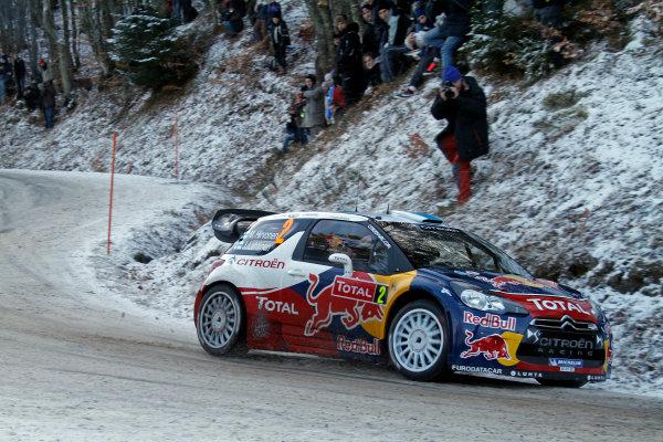 Round 01-Rally Monte Carlo 17-22 January 2012. Mikko Hirvonen, Citroen WRC, ActionWorldwide Copyright: McKlein/LAT