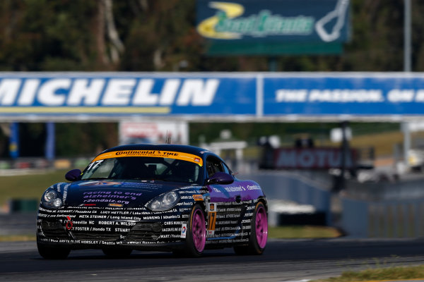 IMSA Continental Tire SportsCar Challenge Fox Factory 120 Road Atlanta, Braselton GA Thursday 5 October 2017 17, Porsche, Porsche Cayman, ST, Spencer Pumpelly, Nick Galante World Copyright: Jake Galstad LAT Images