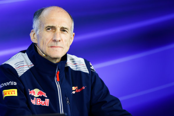 Spa Francorchamps, Belgium.  Friday 25 August 2017. Franz Tost, Team Principal, Toro Rosso, in the Team Principals Press Conference. World Copyright: Andy Hone/LAT Images  ref: Digital Image _ONZ9520