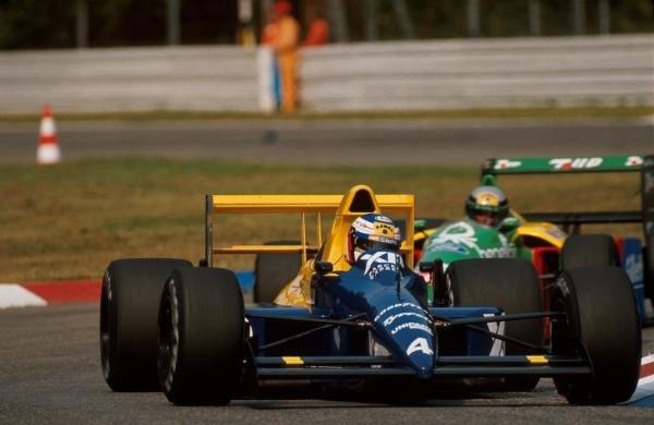 Jean Alesi (FRA) Tyrrell 018, 10th place. German Grand Prix, Hockenheim, 30 July 1989