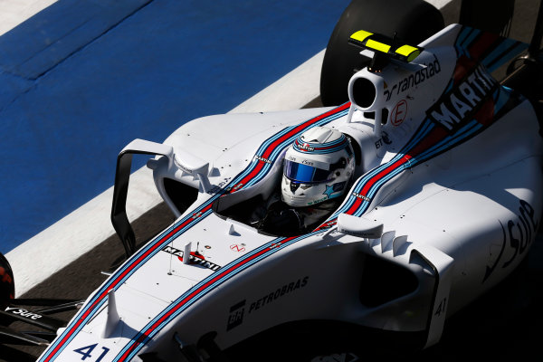 Silverstone, Northamptonshire, England. Friday 03 July 2015. Susie Wolff, Williams FW37 Mercedes. World Copyright: Alastair Staley/LAT Photographic. ref: Digital Image _79P9215