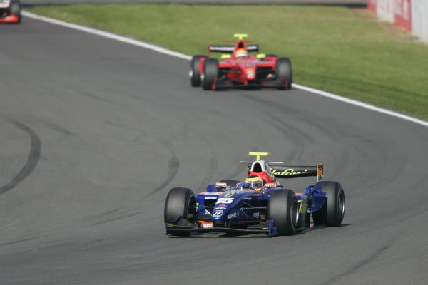 2007 GP2 Series Round 5. Silverstone, England. 8th July 2007. Sunday Race.Filipe Albuquerque (POR, Racing Engineering). Action. World Copyright: Andrew Ferraro/GP2 Series Media Service.  ref: Digital Image _F6E6594