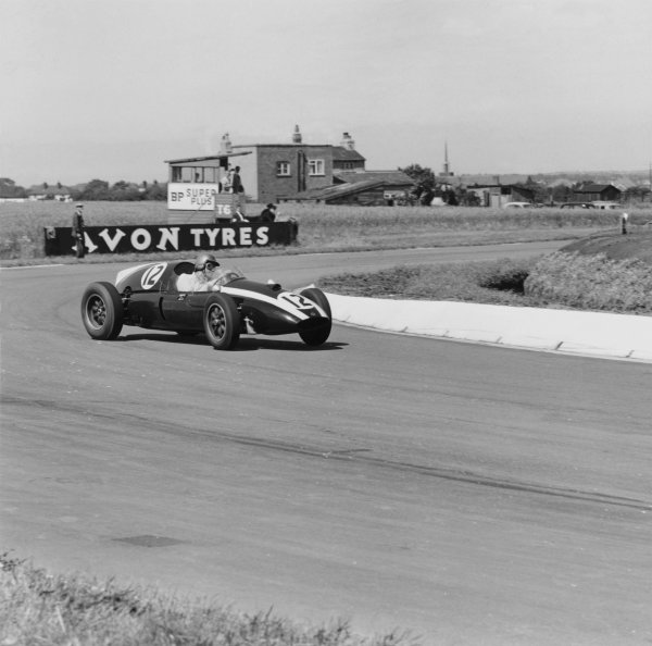 1959 British Grand Prix.Aintree, Great Britain. 18 July 1959.Jack Brabham (Cooper T51-Climax), 1st position. Ref-4545.World Copyright - LAT Photographic