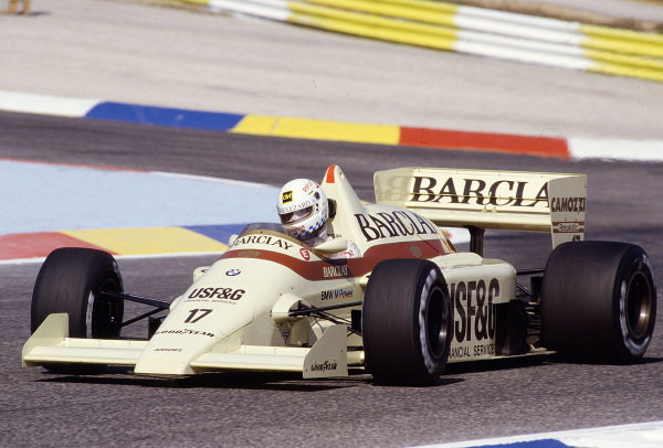 1986 French Grand Prix. Paul Ricard, Le Castellet, France. 4-6 July 1986. Christian Danner (Arrows A8 BMW) 11th position. Ref-86 FRA 31. World Copyright - LAT Photographic
