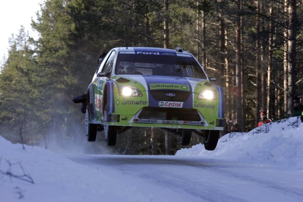 2006 FIA World Rally Champs. Round two Swedish Rally.2nd-5th February 2006.Mikko Hirvonen, Ford, action.World Copyright: McKlein/LAT