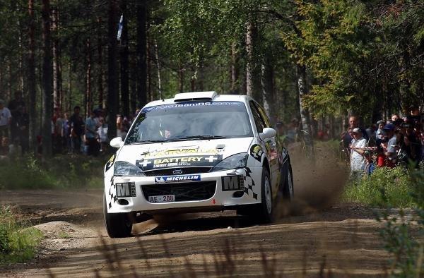 Jari-Matti Latvala (FIN), Ford Focus RS WRC.FIA World Rally Championship, Rd9, Neste Rally Finland, Jyvaskyla, Finland. Day 2, 9 August 2003.DIGITAL IMAGE