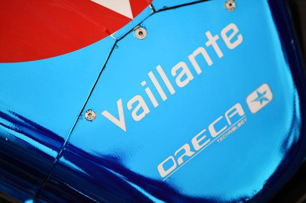 2017 Le Mans 24 Hours test day. Circuit de la Sarthe, Le Mans, France. Saturday 3 June 2017 #13 Vaillante Rebellion Racing Oreca 07 Gibson detail World Copyright: Rainier Ehrhardt/LAT Images ref: Digital Image 24LM-testday-re-0850