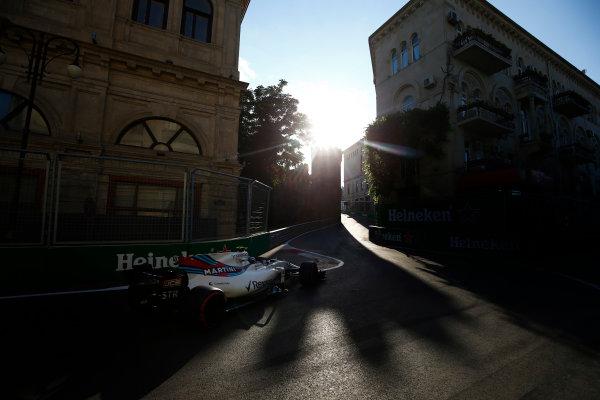Baku City Circuit, Baku, Azerbaijan. Friday 23 June 2017. Lance Stroll, Williams FW40 Mercedes. World Copyright: Andrew Hone/LAT Images ref: Digital Image _ONZ6331