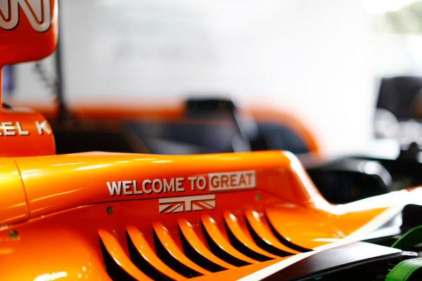 Baku City Circuit, Baku, Azerbaijan. Thursday 22 June 2017. Cockpit detail on the McLaren MCL32 Honda.  World Copyright: Steven Tee/LAT Images ref: Digital Image _R3I0944