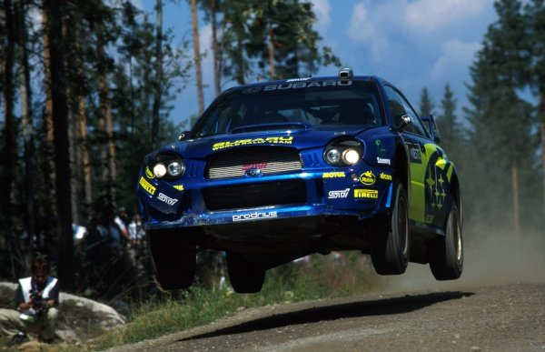 Petter Solberg (NOR) and Phil Mills Subaru Impreza WRC.
