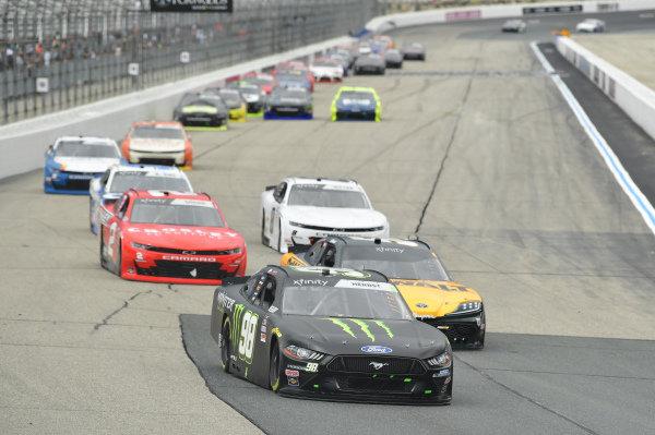 #98: Riley Herbst, Stewart-Haas Racing, Ford Mustang Monster Energy, #54: Christopher Bell, Joe Gibbs Racing, Toyota Supra DEWALT