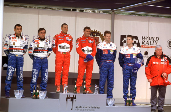 2001 World Rally Championship. Rally Portugal, Portugal. 8th-11th March 2001. Mitsubushi take first Ford take second and Peugeot take third place. World Copyright: McKlein / LAT Photographic. Ref: Portugal A03