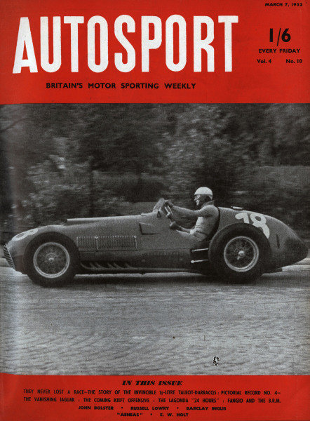Cover of Autosport magazine, 7th March 1952
