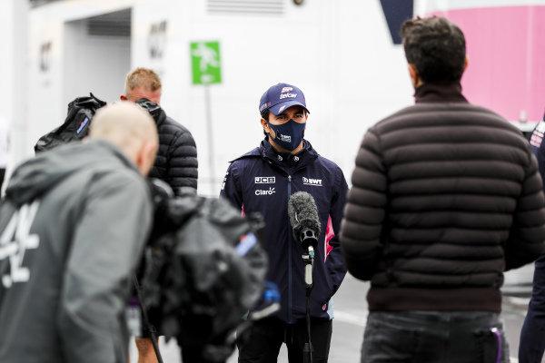 Sergio Perez, Racing Point speak to the media