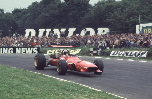 1968 British Grand Prix.Brands Hatch, England.18-20 July 1968.Chris Amon (Ferrari 312) 2nd position.Ref-68 GB 30.World Copyright - LAT Photographic
