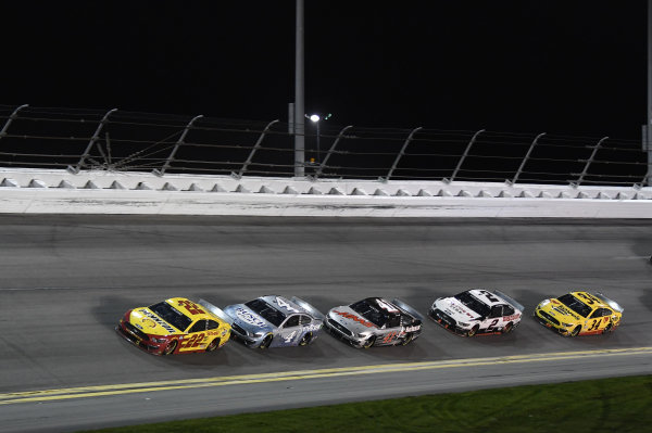 #22: Joey Logano, Team Penske, Ford Mustang Shell Pennzoil #4: Kevin Harvick, Stewart-Haas Racing, Ford Mustang Busch Light #TheCrew #41: Cole Custer, Stewart-Haas Racing, Ford Mustang HaasTooling.com #2: Brad Keselowski, Team Penske, Ford Mustang Discount Tire #34: Michael McDowell, Front Row Motorsports, Ford Mustang Love's Travel Stops