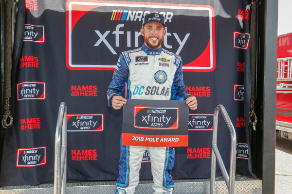 #42: Ross Chastain, Chip Ganassi Racing, Chevrolet Camaro DC Solar pole award