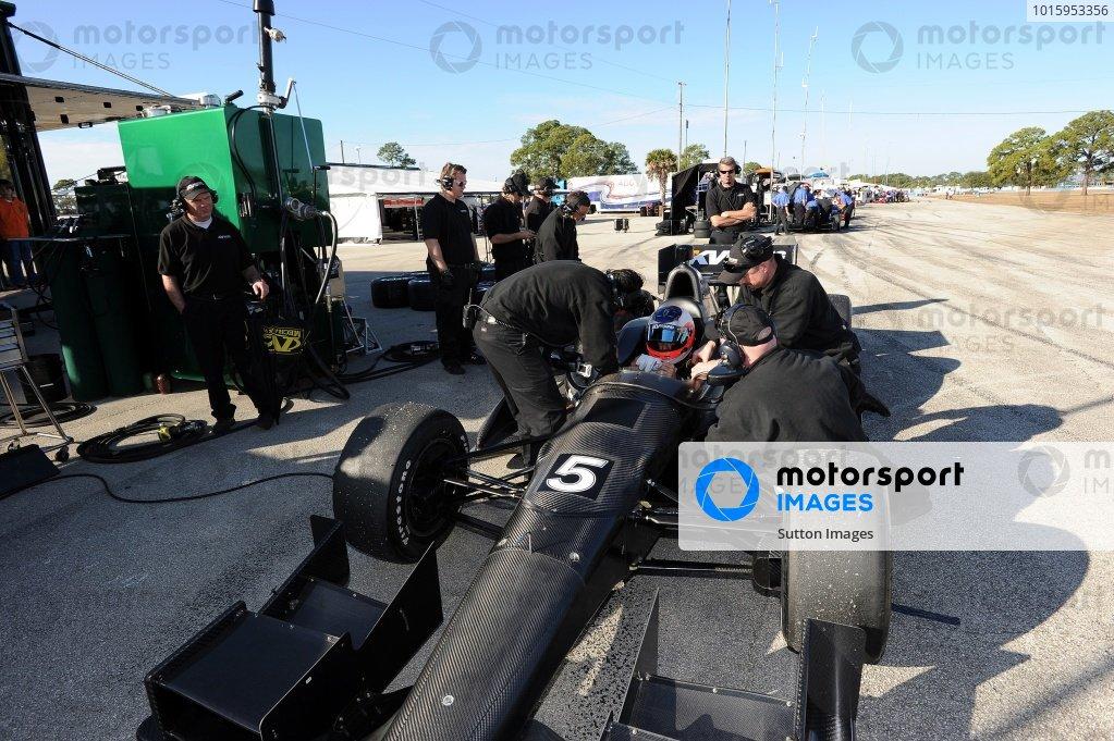 Rubens Barrichello IndyCar Test