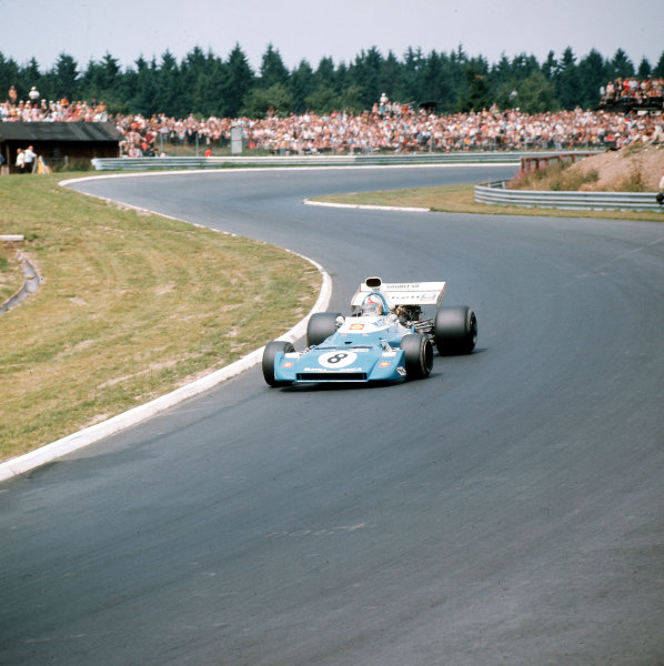 Nurburgring, Germany.28-30 July 1972.Chris Amon (Matra-Simca MS120D).Ref-3/5126G.World Copyright - LAT Photographic