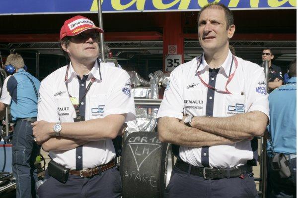 2008 GP2 Series. Round 1. Sunday Race.Barcelona, Spain. 27th April 2008Bruno Michel, GP2 Series Organiser with Didier Perrin, Technical Director. Portrait. World Copyright: Alastair Staley/GP2 Series Media Service.ref:__P9O6114 jpg