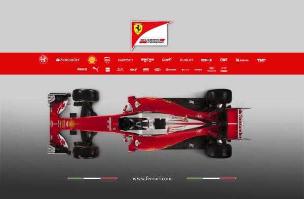 Ferrari SF16-H Reveal. Friday 19 February 2016. The Ferrari SF16-H. Photo: Ferrari (Copyright Free FOR EDITORIAL USE ONLY) ref: Digital Image 160002_new-SF16-h_alto2016_sponsor