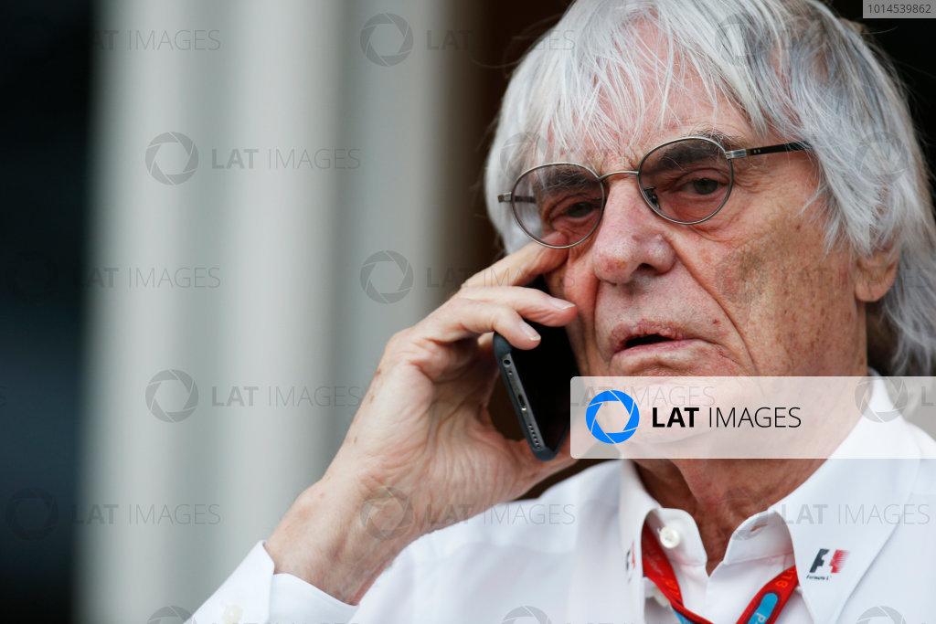 Bahrain International Circuit, Sakhir, Bahrain. Saturday 02 April 2016. Bernie Ecclestone, CEO and President of FOM. World Copyright: Sam Bloxham/LAT Photographic ref: Digital Image _L4R8687