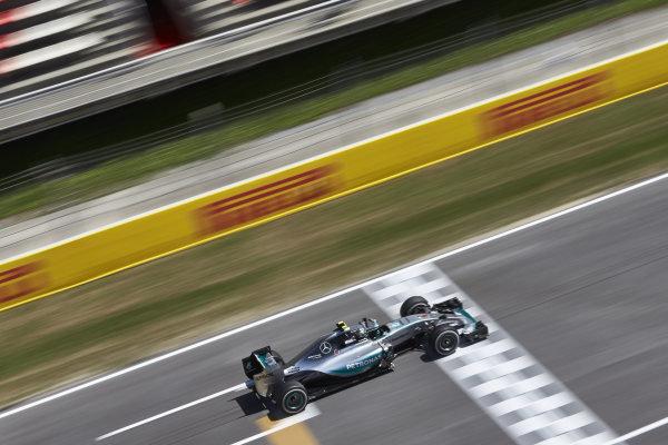 Circuit de Catalunya, Barcelona, Spain. Friday 8 May 2015. Nico Rosberg, Mercedes F1 W06 Hybrid. World Copyright: Steve Etherington/LAT Photographic. ref: Digital Image SNE19591