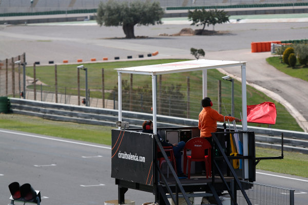 2015 GP3 Series Test 2 - Circuit Ricardo Tormo, Valencia, Spain. Friday 10 April 2015. Red flag Photo: Sam Bloxham/GP3 Series Media Service. ref: Digital Image _SBL5246