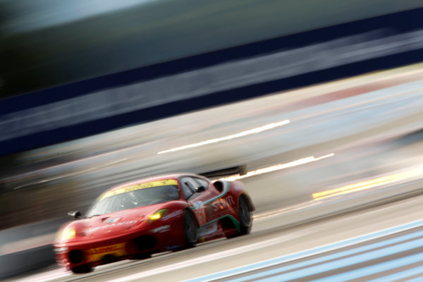 Circuit Paul Ricard, France. 1st - 3rd April 2011.Six Hours Of Castellet.Piergiuseppe Perazzini / Marco Cioci / StŽphane Lemeret, AF Corse, Ferrari 430. Action.     World Copyright: Drew Gibson/LAT Photographic.ref: Digital Image DG5D2903