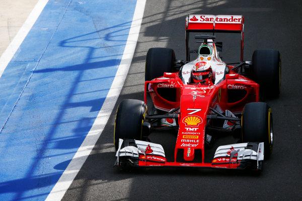 Silverstone, Northamptonshire, UK. Wednesday 13 July 2016. Kimi Raikkonen, Ferrari SF16-H. World Copyright: Zak Mauger/LAT Photographic ref: Digital Image _L0U8523