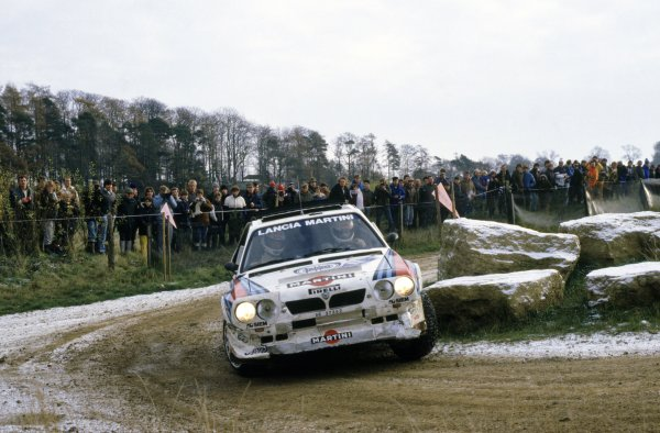 1985 World Rally Championship. Lombard RAC Rally, Great Britain. 24-28 November 1985. Markku Alen/Illka Kivimaki (Lancia Delta S4), 2nd position. World Copyright: LAT Photographic Ref: 35mm transparency 85RALLY13