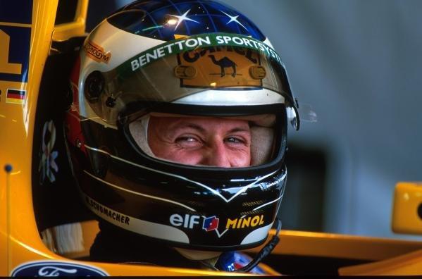 Michael Schumacher(GER) Benetton B193 Japanese Grand Prix, Suzuka, 24  October 1993