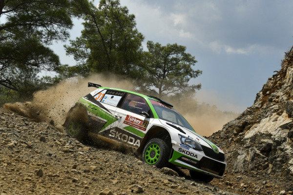 Jan Kopecky, Skoda Motorsport, Skoda Fabia R5, fights with the rocky roads of Rally Turkey
