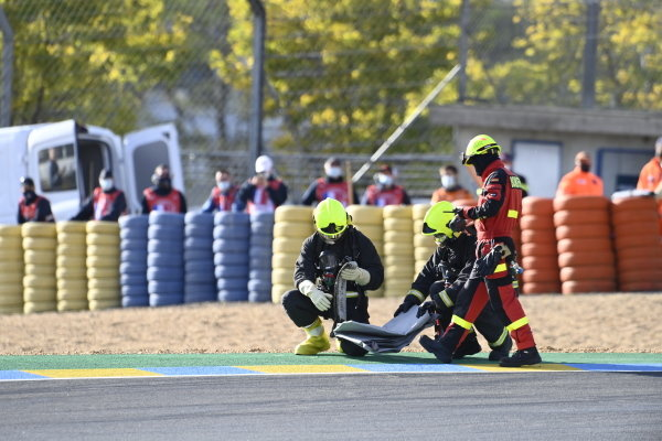 Crash of Mattia Casadei, Ongetta SIC58 Squadracorse.